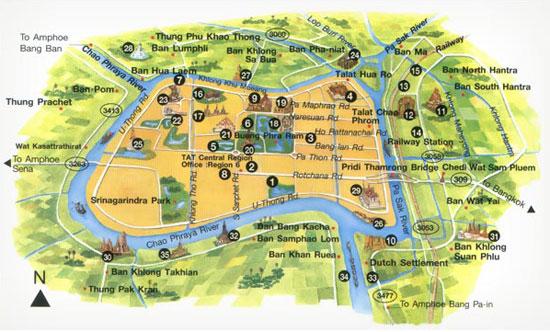 Ayutthaya. La croisière autour de la ville est un incontournable.
